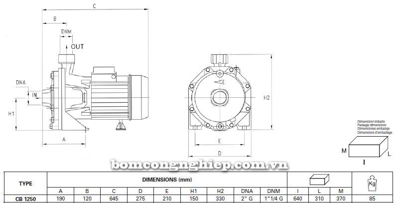 may-bom-nuoc-ly-tam-pentax-cb-1250-bang-thong-so-kich-thuoc