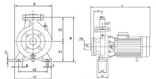 thông số kích thước máy bơm trục rời Pentax CA 100-200A